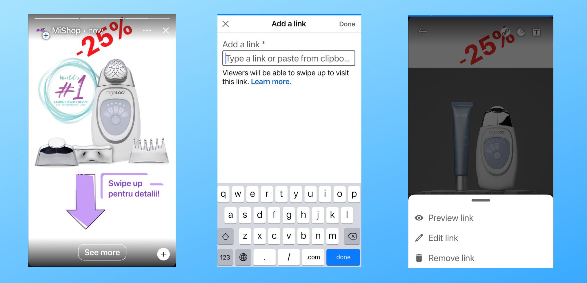 LinkedIn Story – adaugă acum linkuri Swipe-Up!